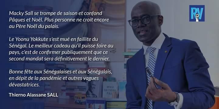 """Thierno Alassane Sall : """"Macky Sall confond Pâques et Noël"""""""
