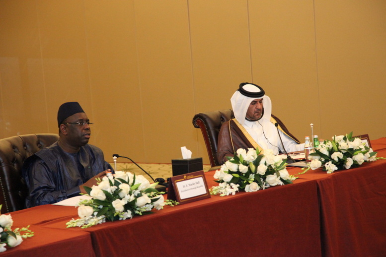 Qatar la rencontre en images entre le pr sident macky for Chambre de commerce de dakar formation