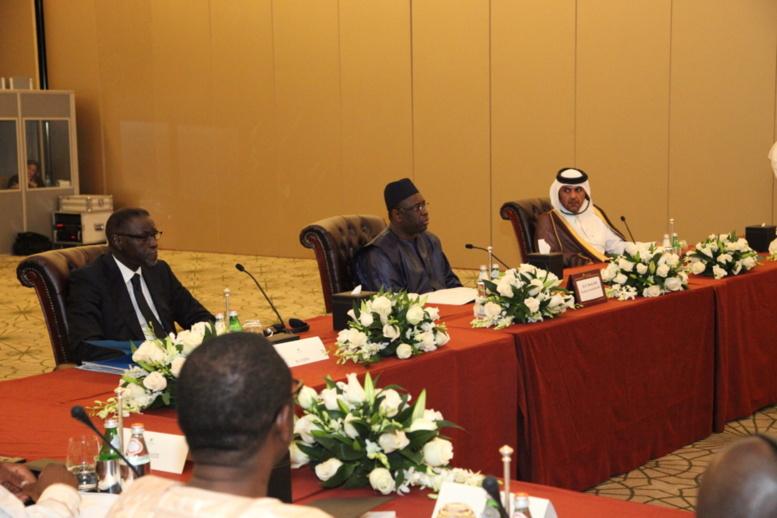 Qatar: la rencontre en images entre le président Macky Sall et les membres de la Chambre de Commerce