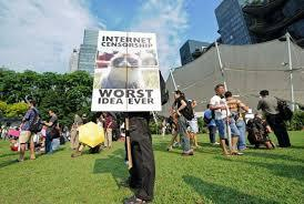 Singapour : manifestation contre la censure sur internet