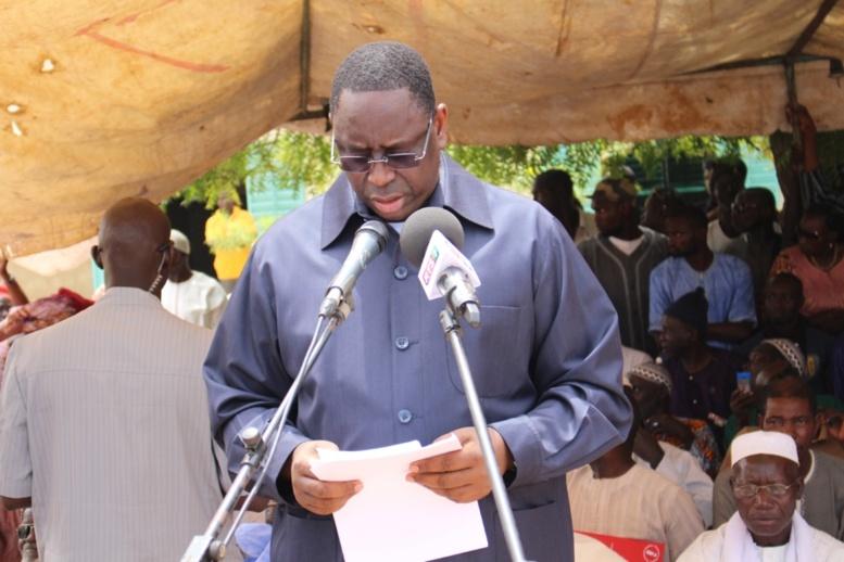 Retour à son royaume d'école: le président Macky Sall dit sa joie et son émotion qu'il peine à contenir