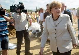La chancelière allemande Angela Merkel est attendue une nouvelle fois dans le nord du pays victime d'inondations