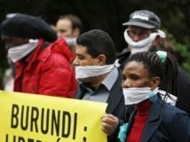 Amnesty International avait organisé une manifestation de protestation contre la loi sur la presse, devant l'ambassade du Burundi à Bruxelles, le 31 mai