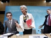 La directrice du FMI Christine Lagarde lors d'une conférence de presse consacrée à la situation aux Etats-Unis, le 14 juin 2013