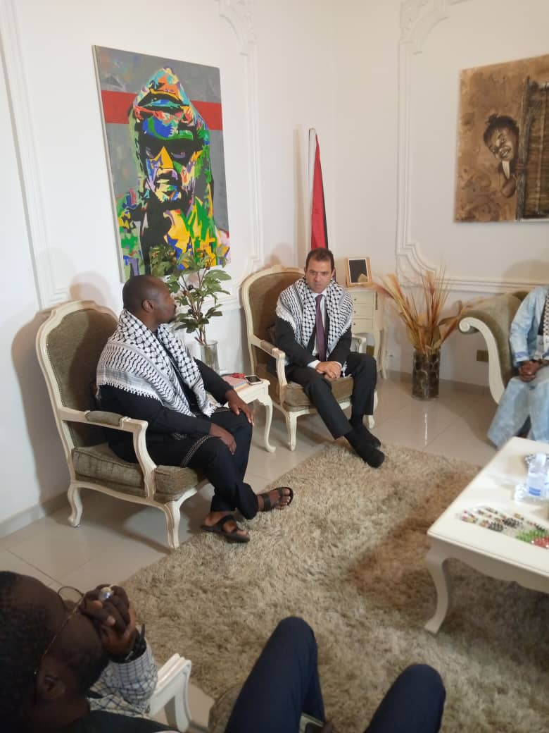 """Guy Marius Sagna à l'ambassadeur de la Palestine :  """"Il est temps que les États africains élèvent leurs voix contre cette oppression"""""""