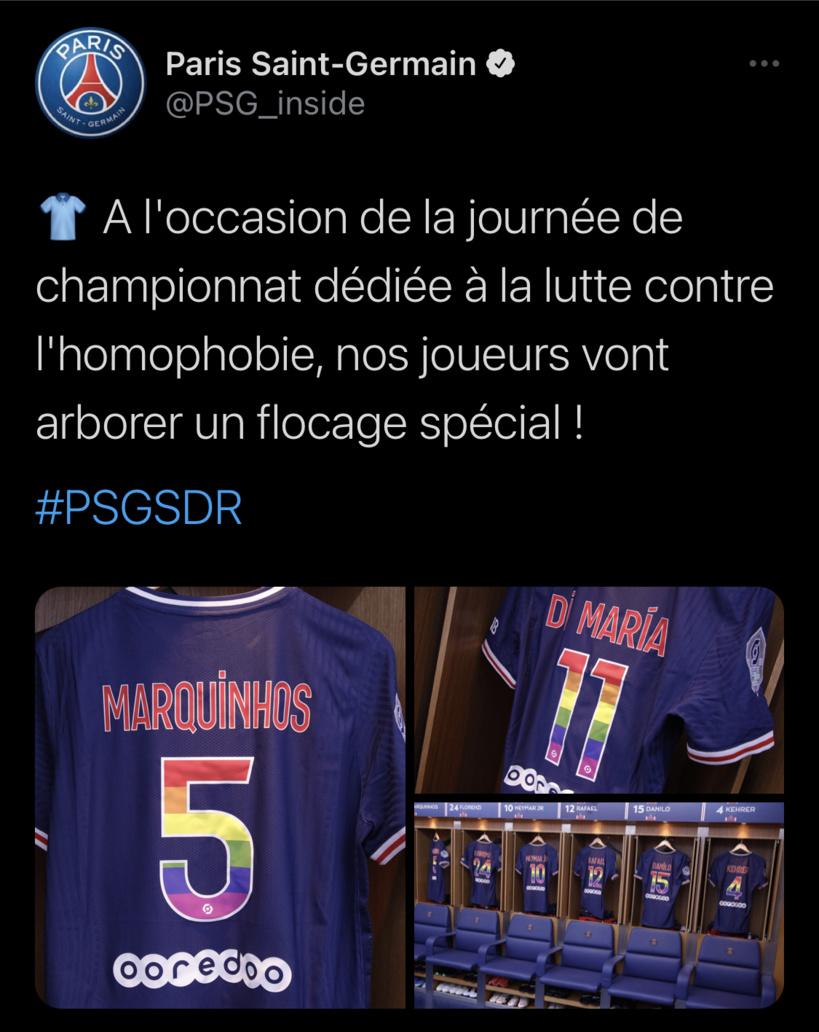 PSG: Abdou Diallo et Gana Gueye n'ont pas arboré le maillot dédié aux LGBT ce soir