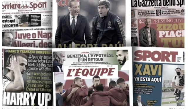 Duel au sommet pour la succession de Zidane au Real, l'annonce du départ d'Harry Kane enflamme l'Angleterre