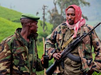 Des rebelles du M23 à Kavumu, dans le Nord-Kivu, le 3 juin 2012. Photo AFP/ Mélanie Gouby