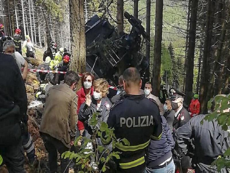 Italie: douze morts dans un accident de téléphérique à Stresa