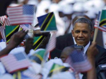 Barack Obama en Tanzanie, le 1er juillet 2013. Cameron / Reuters
