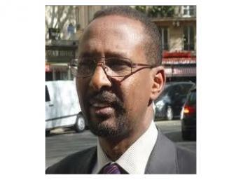 Daher Ahmed Farah, porte-parole de la coalition de l'opposition djiboutienne, l'Union pour le Salut National (USN), arrêté le 4 mars 2013 Facebook/DR