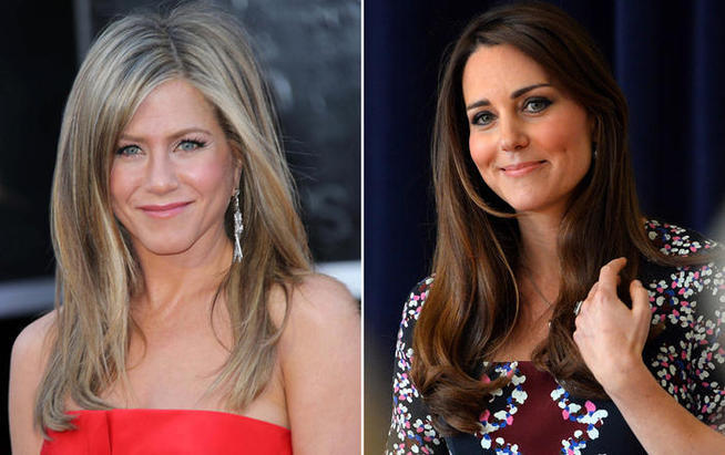 Jennifer Aniston envie la chevelure de Kate Middleton