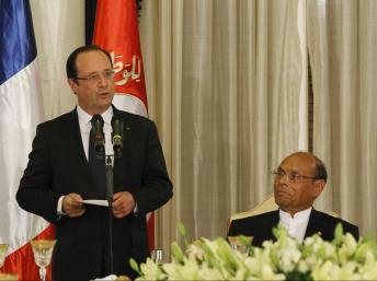 Le président français François Hollande et son homologue Moncef Marzouki à Tunis, le 4 juillet 2013. REUTERS/Anis Mili