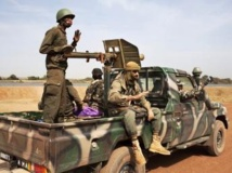 Des éléments de l'armée malienne. (Ici à Diabaly, le 26 janvier 2013.)