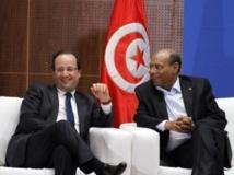 Le président français François Hollande et son homologue tunisien Moncef Marzouki à Tunis, le 5 juillet 2013.