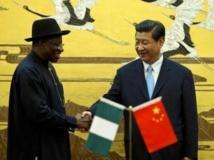 Le président nigérian Goodluck Jonathan et le président chinois Xi Jiping, le 10 juillet 2013.