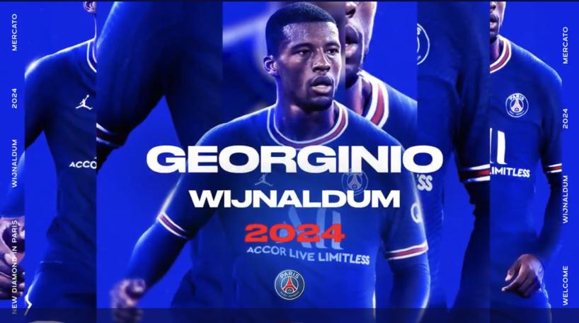 Mercato: le PSG officialise l'arrivée de Wijnaldum