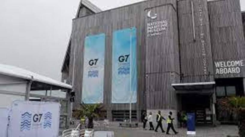 Royaume-Uni: la ville de Falmouth à l'heure du G7