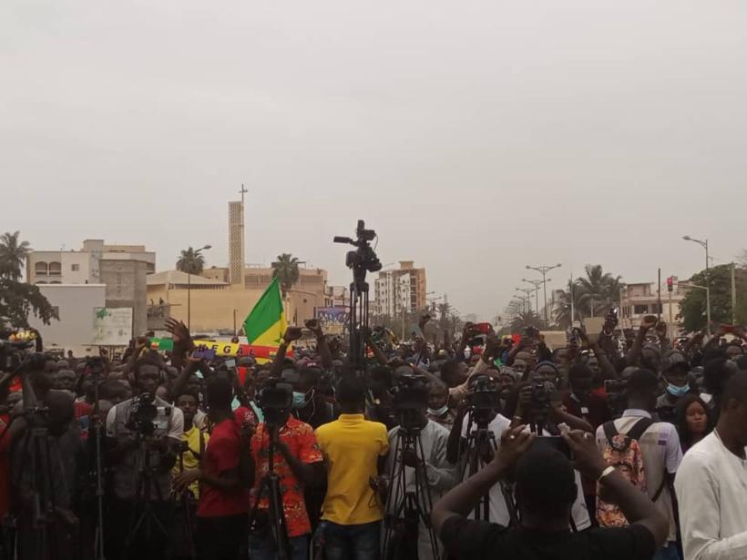 Rassemblement à la Place de la Nation: Ousmane Sonko, Barthélémy Dias, Guy Marius Sagna et plusieurs membres de la société civile exigent la libération des détenus