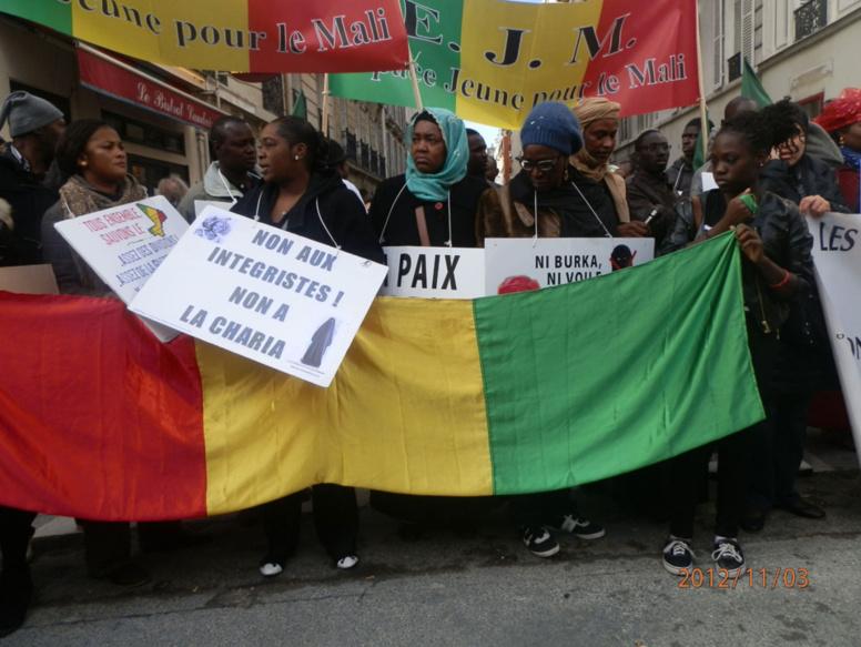 Quelques 80000 Maliens en France sont inscrits sur le fichier électoral. Ici, lors d'une manifestation pour la libération du nord du Mali, à Montreuil, en janvier 2013.