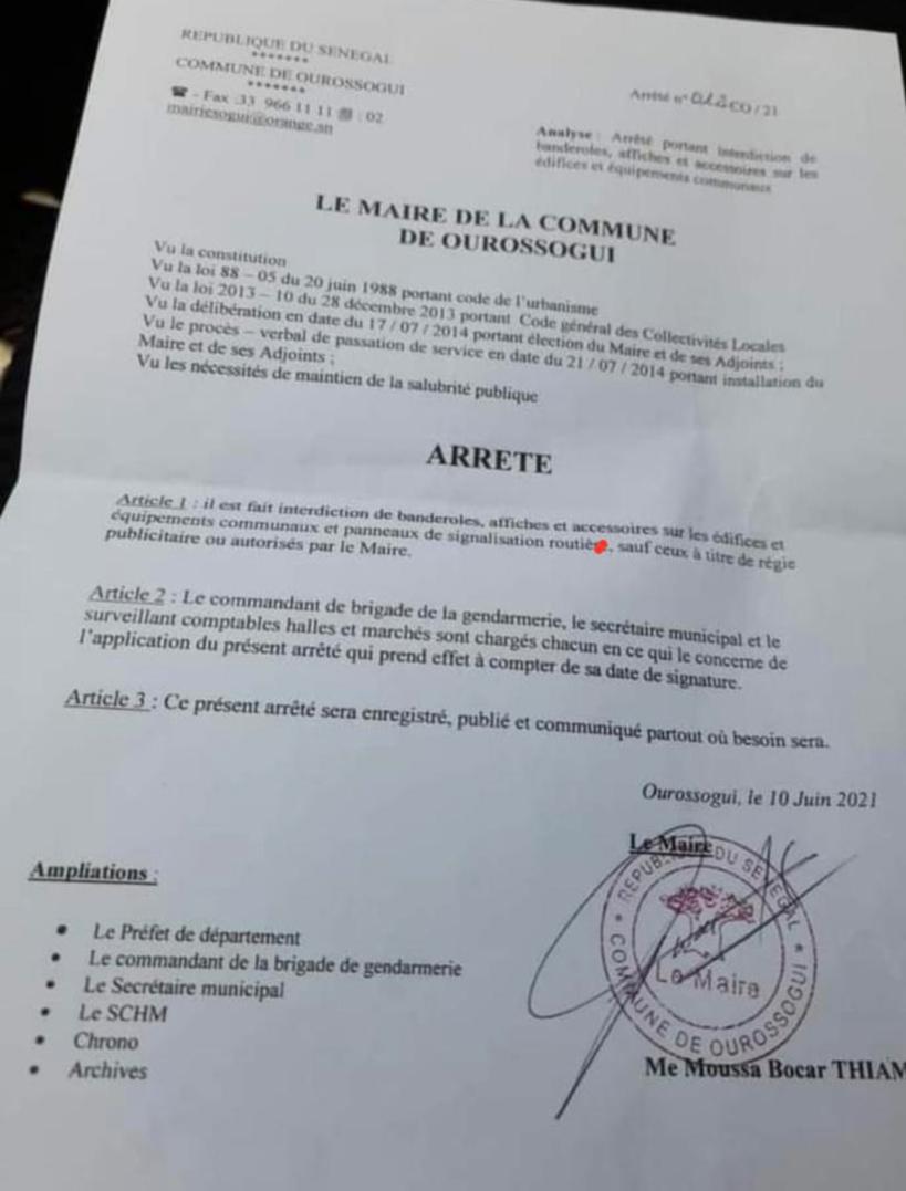 Le maire de Ourossogui vole au secours de Macky… Déclaré persona non grata au Fouta