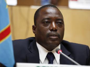 Le président congolais Joseph Kabila, le 24 février 2013 à Addis Abeba.