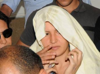 La Femen Amina au tribunal de Kairouan, le 5 juin 2013. AFP PHOTO / SALAH HABIBI