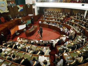 L'Assemblée nationale ivoirienne a repoussé l'examen de deux textes sur l'apatridie. AFP PHOTO- KAMPBEL