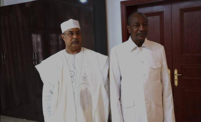 Guinée: les secrets d'une audience glaciale entre Alpha Condé et Mahamat Saleh Annadif au palais Sékoutoureya