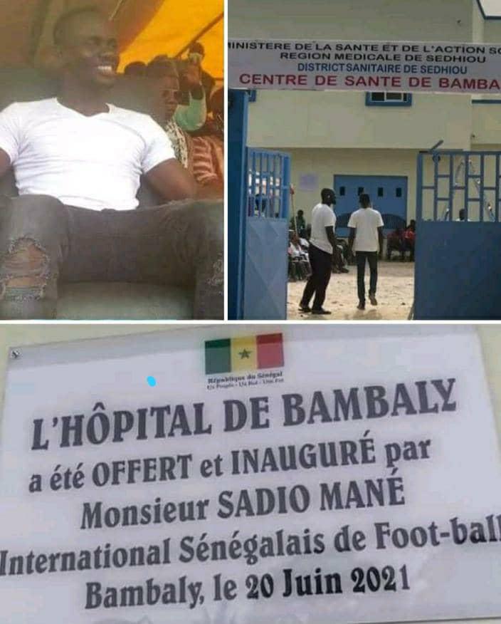 Inauguration du Centre de santé de Bambaly ce dimanche par Sadio Mané