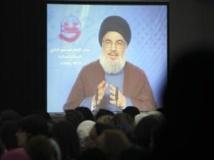 Le chef du Hezbollah Hassan Nasrallah lors d'un discours diffusé à la télévision libanaise, le 24 juillet 2013. REUTERS/Sharif Karim