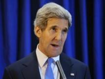 John Kerry se dit « très inquiet » de l'aide extérieure dont bénéficient les groupes rebelles dans l'est de la RDC. REUTERS/Mandel Ngan/Pool