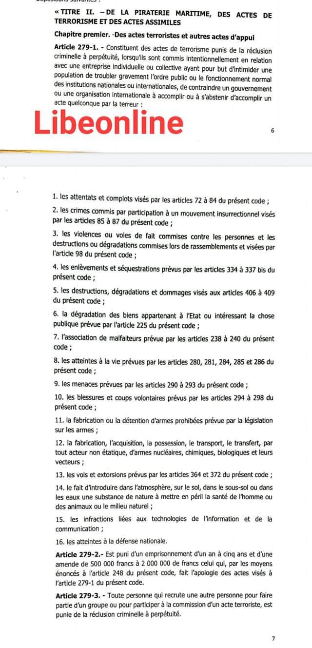 L'Etat envisage le vote en urgence de 2 lois modifiant le code pénal et le code de procédure pénale, alerte Barthélémy Dias
