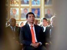 Andry Rajoelina, le président de la transition malgache. AFP PHOTO / BILAL TARABEY
