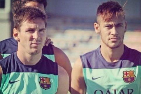 """Barça-Neymar: """"Messi est le meilleur"""""""