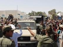 Funérailles d'un soldat tunisien tué lundi 29 juillet près de Kasserine. Reuters/ Stringer