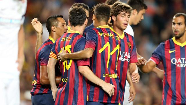 Amical: Le Barça met 8-0 à Santos