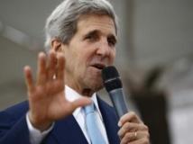 John Kerry, secrétaire d'Etat américain, à l'ambassade des Etats-Unis à Slamabad, le jeudi 1er août. Il a jugé que la destitution de Morsi par l'armée égyptienne avait permis de « rétablir la démocratie ». REUTERS/Jason Reed