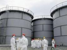 Réservoirs d'eau contaminée dans la centrale de Fukushima, Japon. REUTERS/Kyodo