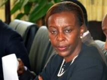 La ministre des Affaires étrangères du Rwanda, Louise Mushikiwabo. AFP PHOTO / JUNIOR D.KANNAH