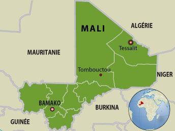 Carte du Mali. Latifa Mouaoued/RFI