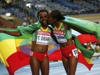 Athlétisme-Mondiaux de Moscou: Tirunesh Dibaba retrouve sa couronne mondiale sur 10.000m