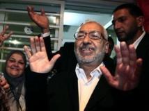 Le leader d'Ennahda Rached Ghannouchi après la proclamation des résultats des élections, le 27 octobre 2011, à Tunis REUTERS/Zohra Bensemra