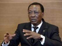 """""""En l'état actuel des choses, il est impossible de reconnaître un président autoproclamé"""", a déclaré le président tchadien Idriss Déby à l'issue du sommet. Photo AFP / Bertrand Guay"""