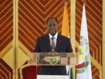 Le président Alassane Ouattara, le 30 juillet 2013, à Yamoussoukro REUTERS/Luc Gnago