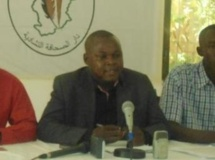 Eric Topona, secrétaire général de l'Union des journalistes tchadiens (UJT) est emprisonné depuis le 6 mai 2013. DR