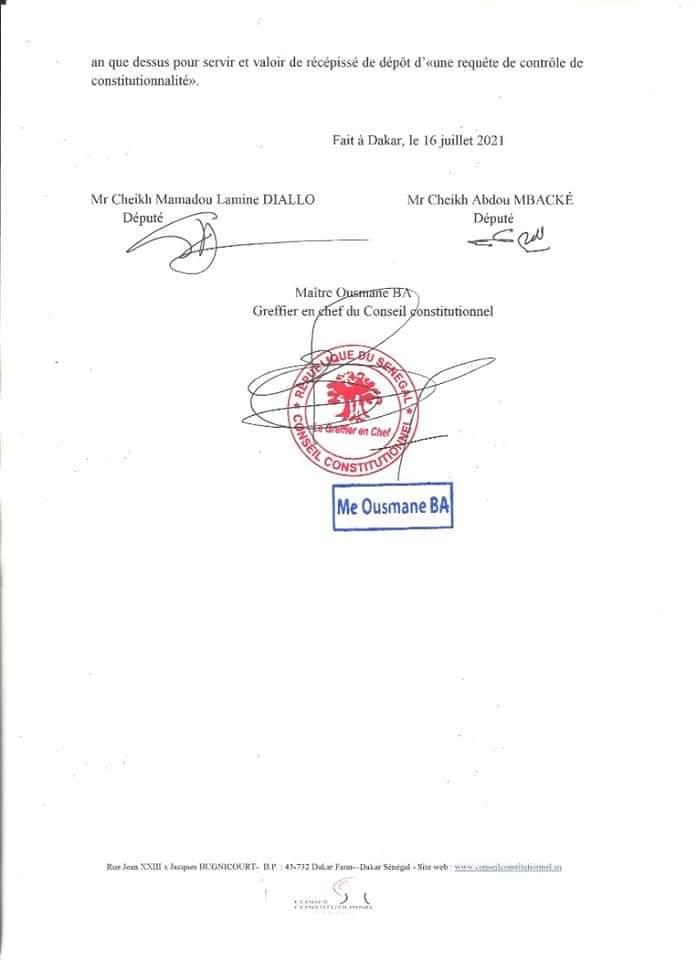 Modification du code électoral : l'opposition dépose un recours devant le Conseil constitutionnel
