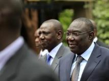 A droite, Michel Djotodia, président intérimiaire de Centrafrique. REUTERS/Noor Khamis