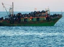 En provenance de Libye, les bateaux devaient se diriger vers Lampedusa. Reuters/Antonio Parrinello