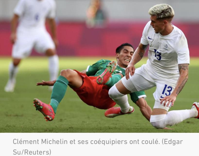 JO Football : les Français corrigés par le Mexique (1-4)